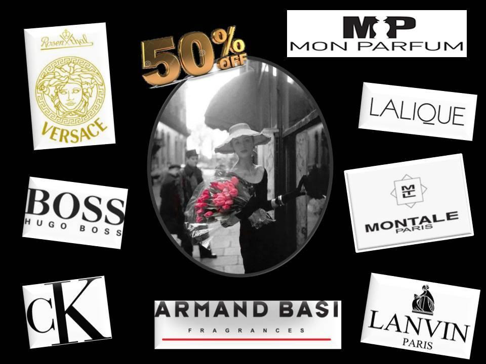 Скидка до 50% на любимые брендовые ароматы @ Mon Parfum